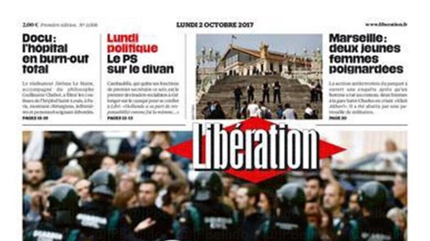 Portada del diario Libération de este 2 de octubre de 2017.