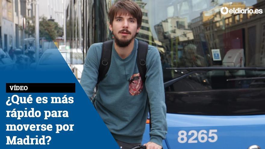 ¿Qué es más rápido para moverse por Madrid?