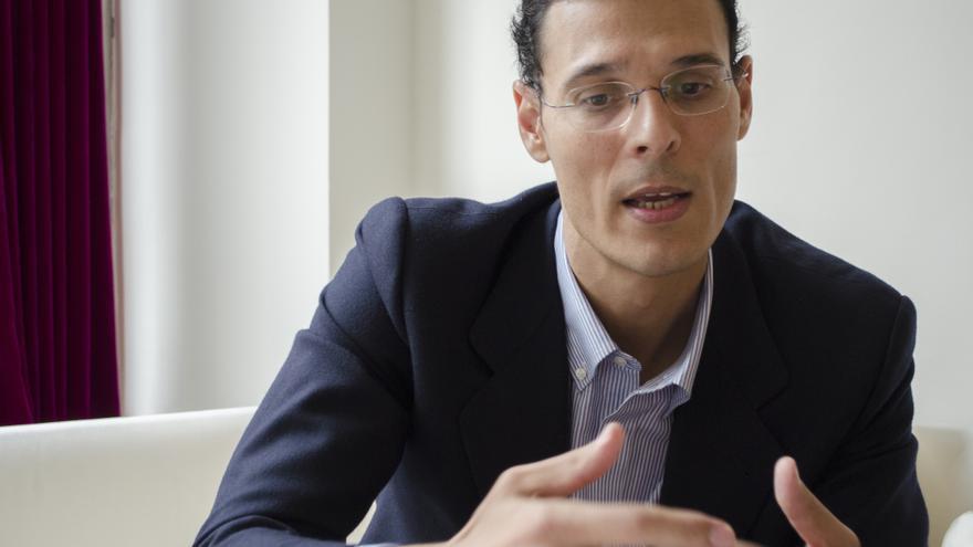 Marcos Chicot durante la entrevista. Foto: Ana Muñiz de la Oliva.