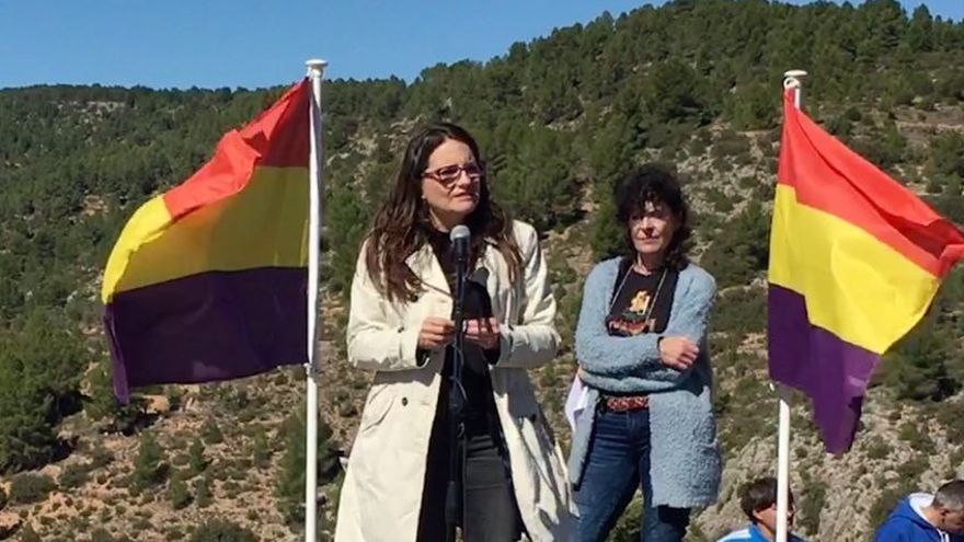 Mónica Oltra ha participado en el 30º homenaje a los guerrilleros antifranquistas de Santa Cruz de Moya