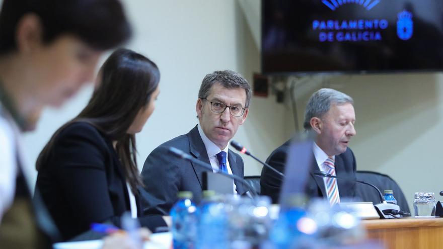 Feijóo, en la comisión de investigación sobre la sanidad abierta en el Parlamento de Galicia en la que sólo participa el PP