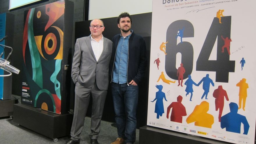 """Un cartel que retrata al Festival de San Sebastián como """"punto de encuentro"""" es la imagen de la 64 edición"""