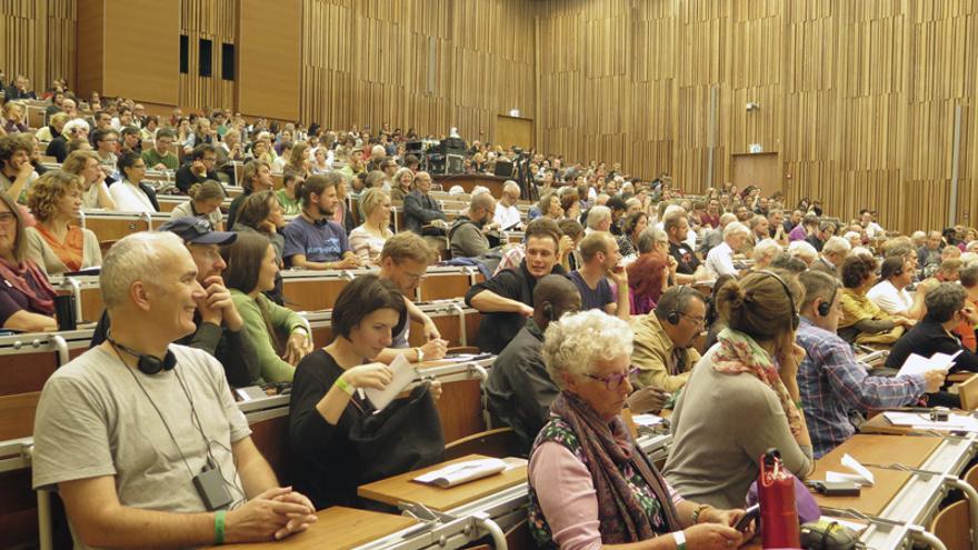 Participantes en el Congreso Internacional de Economía Solidaria, celebrado recientemente en Berlín.