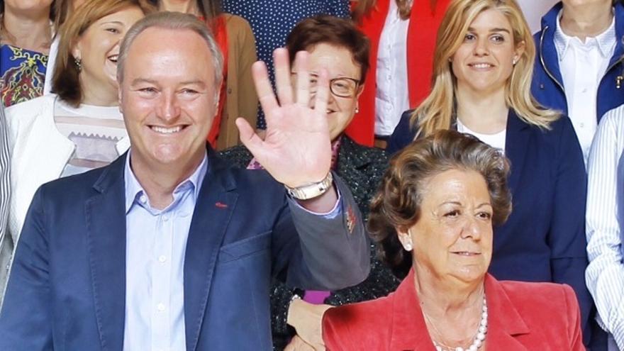 Alberto Fabra y Rita Barberá en un acto del PP valenciano