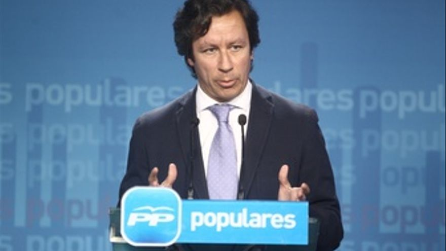 Carlos Floriano, del PP, en Génova