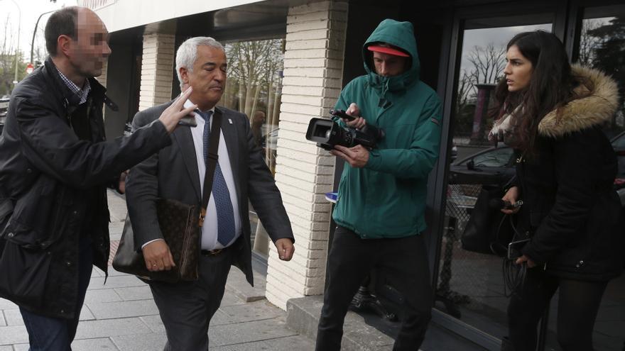 Luis Pineda, momentos después de ser detenido