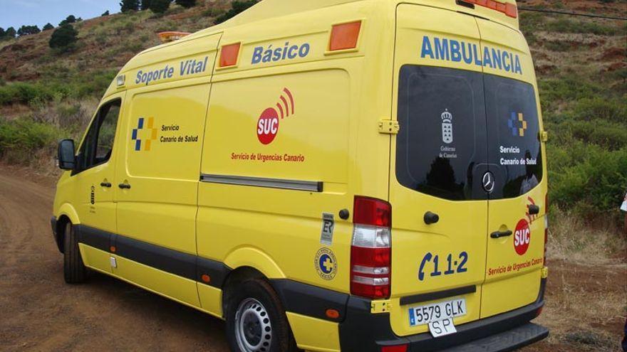 Herido un conductor  al chocar contra un muro en Villa de Mazo