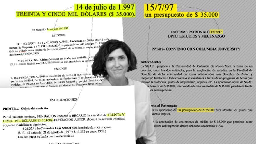 SGAE convenio Adriana Moscoso