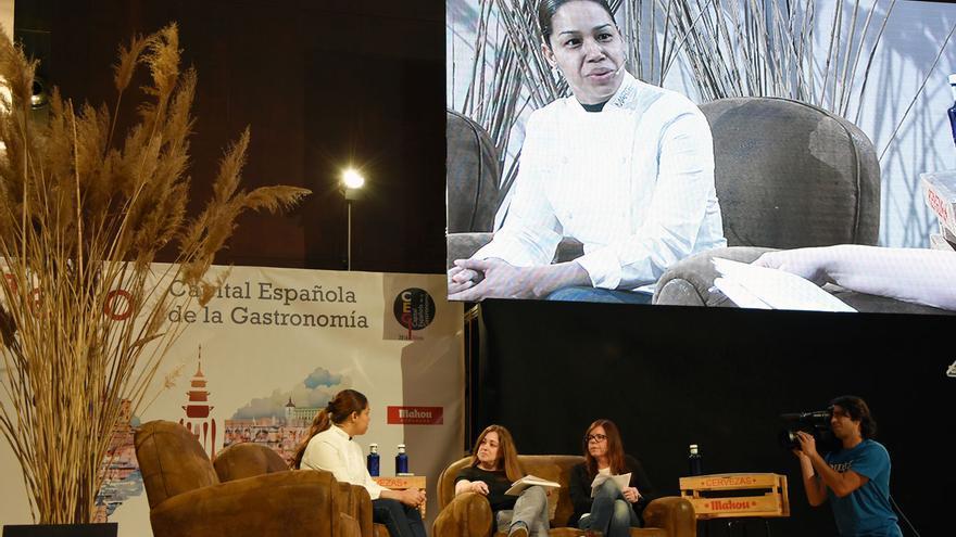 María Marte, durante la entrevista