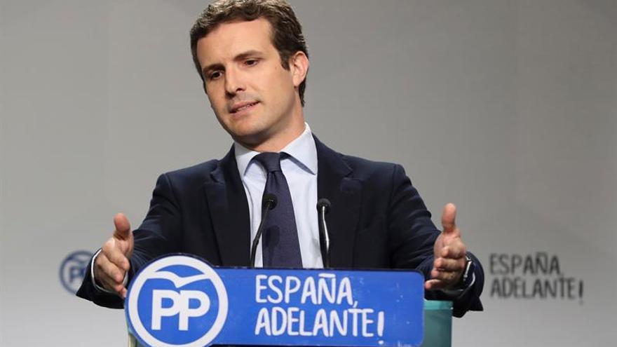 Casado apela al PSOE para conformar un bloque constitucionalista