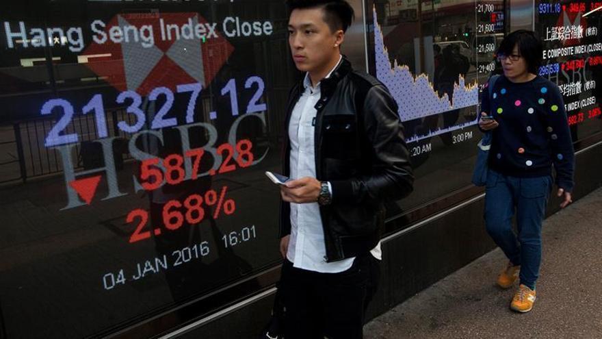Hong Kong suma un 0,36 por ciento a media sesión