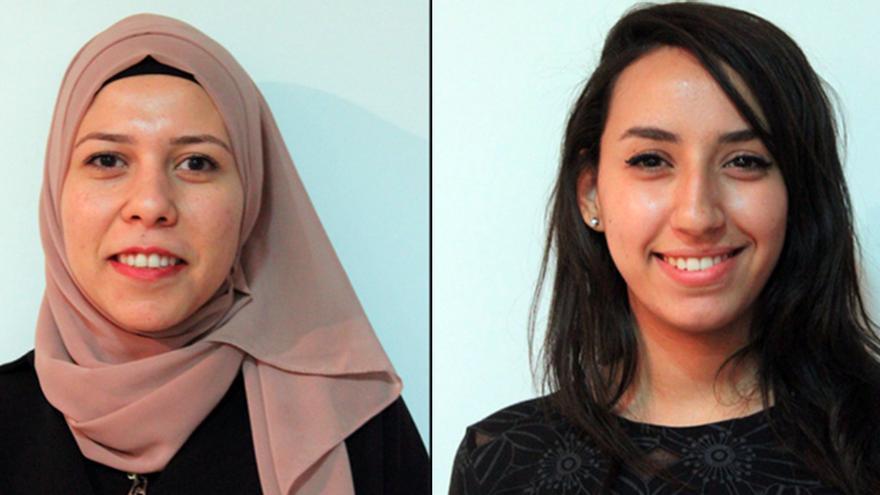 Amina Abd El-Halim y Mara Abu Baker.