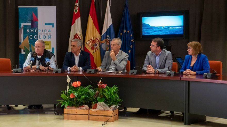 Imagen del acto de presentación de la regata en el Cabildo de La Gomera.