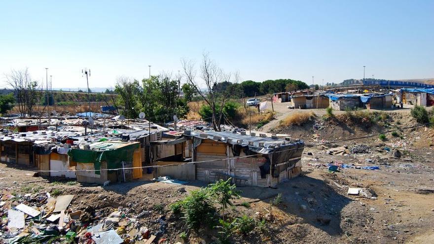 Asentamiento autoconstruido en torno a Madrid.
