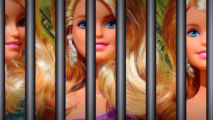 La imagen que ilustra el cartel de la exposición sobre la trata de mujeres