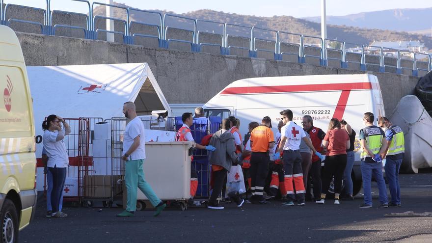 Llegada de migrantes el domingo 29 de diciembre al puerto de Arguineguín
