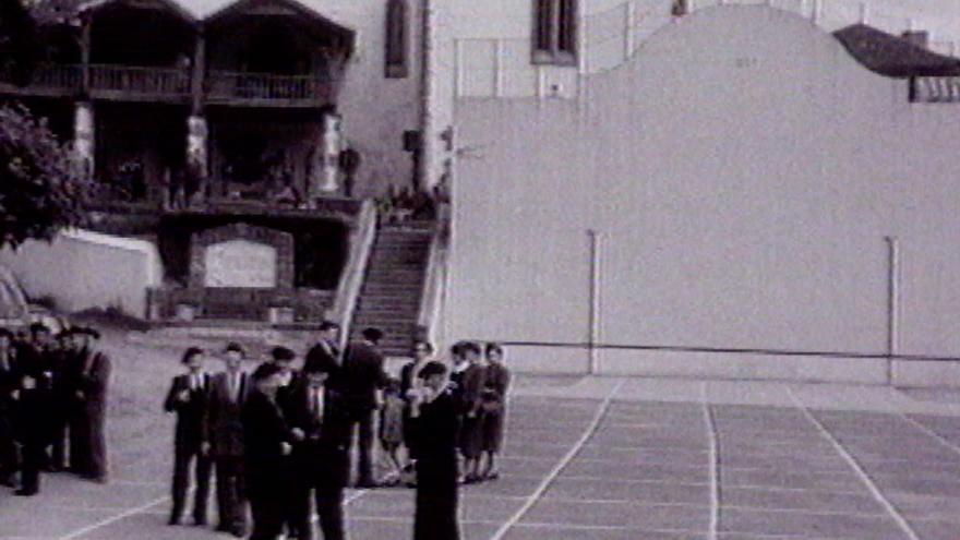 Una escena de los documentales que rodó Welles para la BBC.