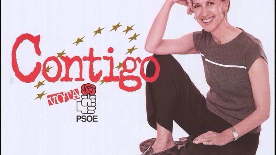 Cartel electoral de Rosa Díez para las elecciones europeas de 1999