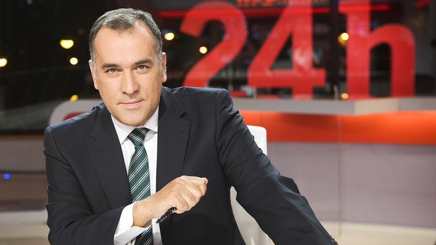 Xabier Fortes, en su primera etapa como presentador de 'La Noche en 24 Horas'