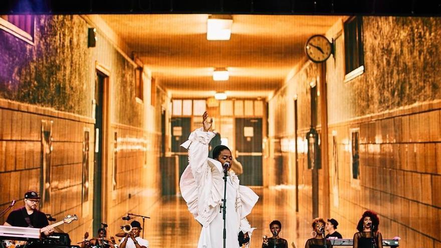 Lauryn Hill en su concierto del Mad Cool 2019