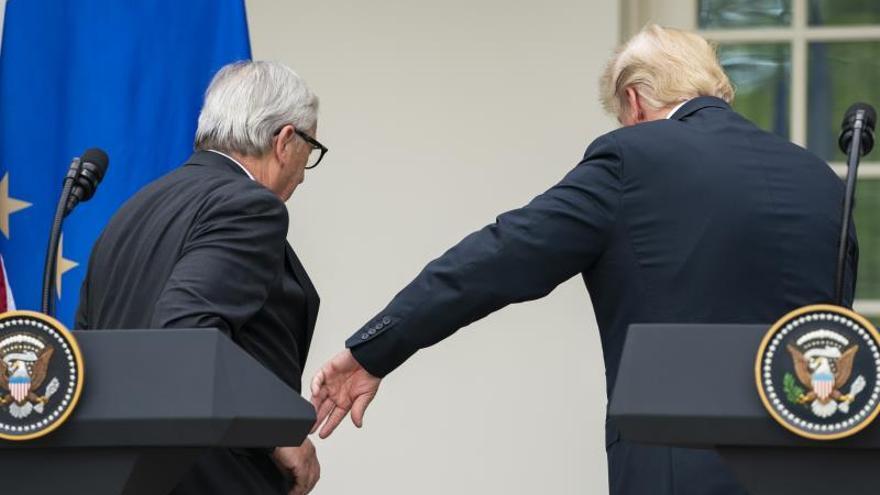 Jean-Claude Juncker y Donald Trump.