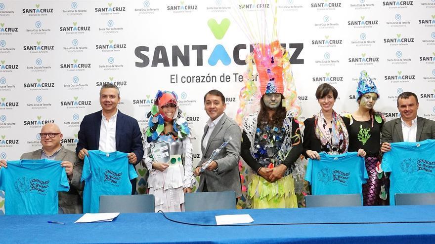 Presentación de la campaña a favor de la limpieza y la separación de residuos durante el Carnaval