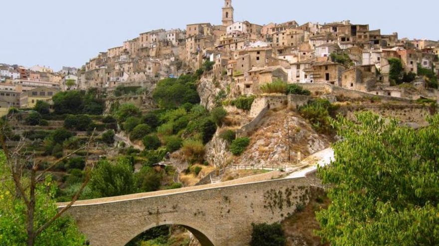 Vista del barri medieval de Bocairent