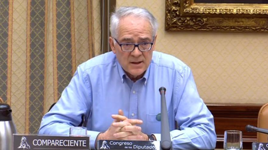 Agustín Moreno, en la subcomisión del Congreso para el pacto.
