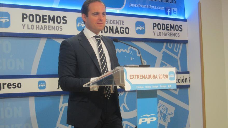 """El PP de Extremadura considera que Vara tiene """"pavor"""" a """"dar la cara"""" entre los opositores que """"se sienten estafados"""""""