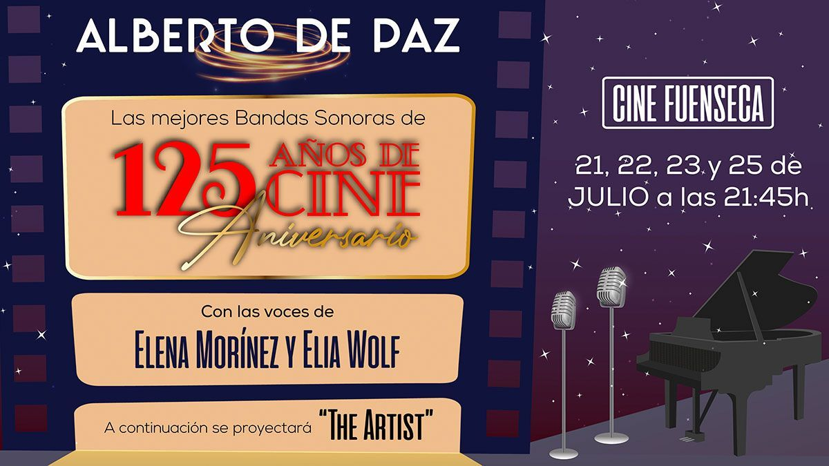 Alberto de Paz presenta las mejores bandas sonoras de 125 años de cine