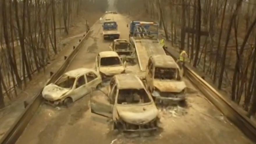 Incendio de portugal, a vista de dron