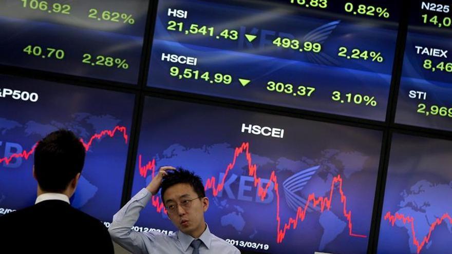 La Bolsa de Seúl abre con una caída del 0,25 % hasta los 2.163,42 puntos