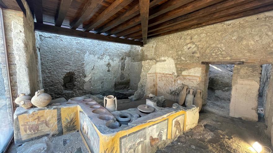 Pompeya se enriquece con la apertura al público de un excepcional termopolio