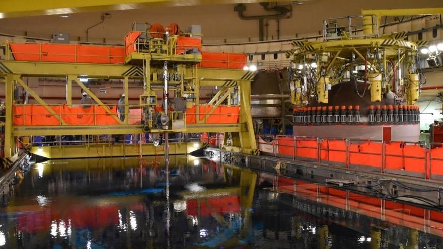 Línea del sistema de agua de la central de Cofrentes afectada por la incidencia.