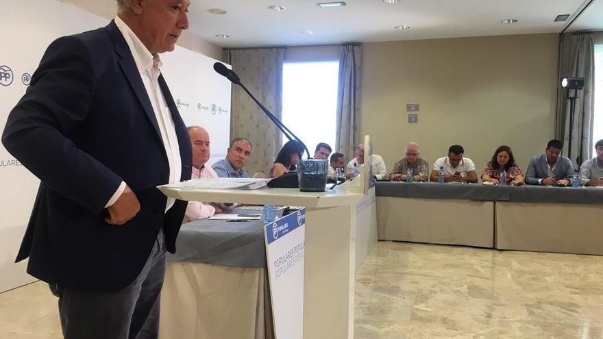 """Arenas, a Pedro Sánchez: """"Quien no defiende la unidad de España no puede aspirar al Gobierno"""" del país"""