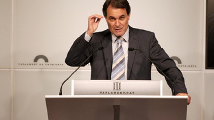 El presidente de CiU, Artur Mas.