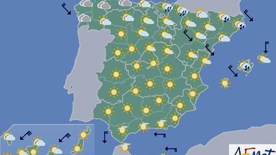 Hoy lloverá en el extremo noreste y nevará en cotas altas del Pirineo