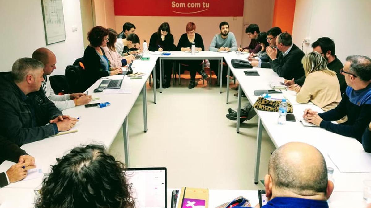 Imagen de archivo de una reunión del Bloc.