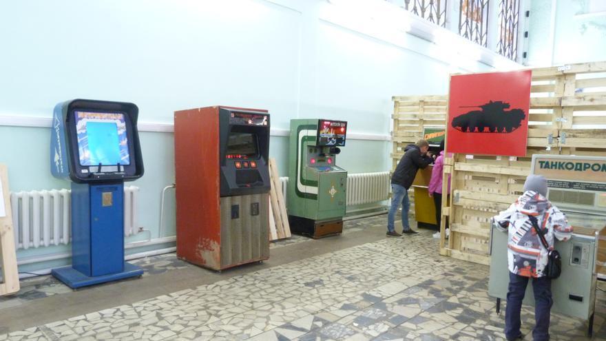 Varios videojuegos en la exposición. Foto: Àngel Ferrero.
