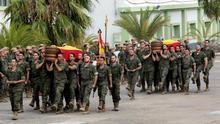 El Ejército rinde honores a los dos militares fallecidos en Fuerteventura