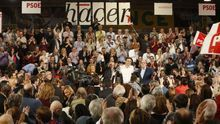 El PSOE celebra el cambio de liderazgo en Madrid