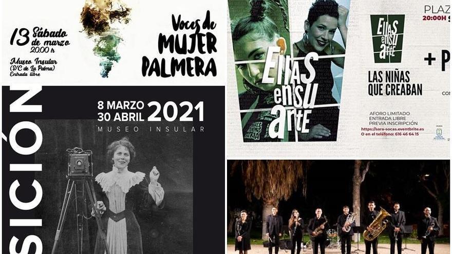 La mujer protagoniza la agenda cultural de marzo del Cabildo de La Palma