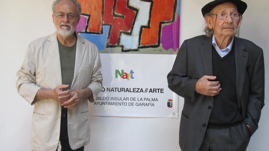 Facundo Fierro y Agustín Ibarrola, este jueves en la Casa Salazar. Foto: LUZ RODRÍGUEZ
