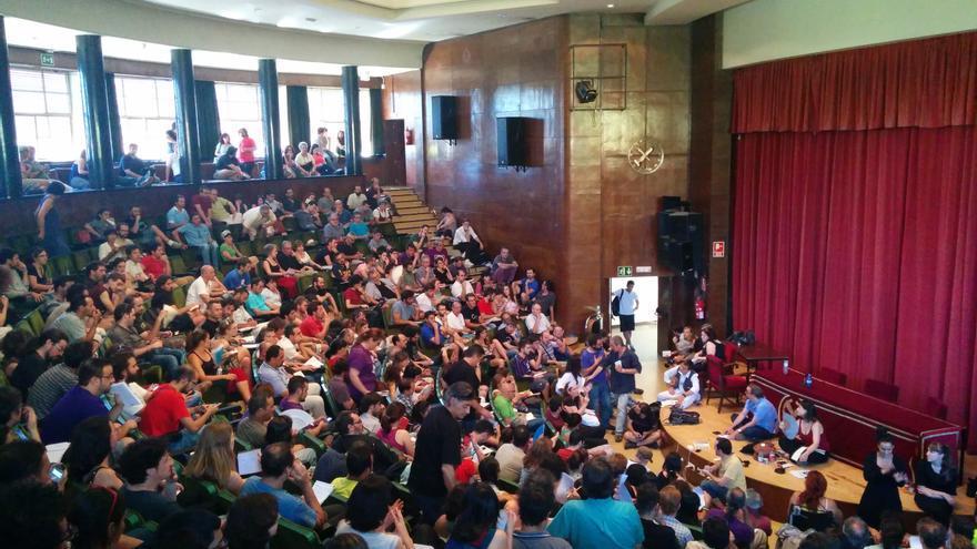Asamblea de círculos de Podemos para organizar la asamblea fundacional de otoño. / A.R.