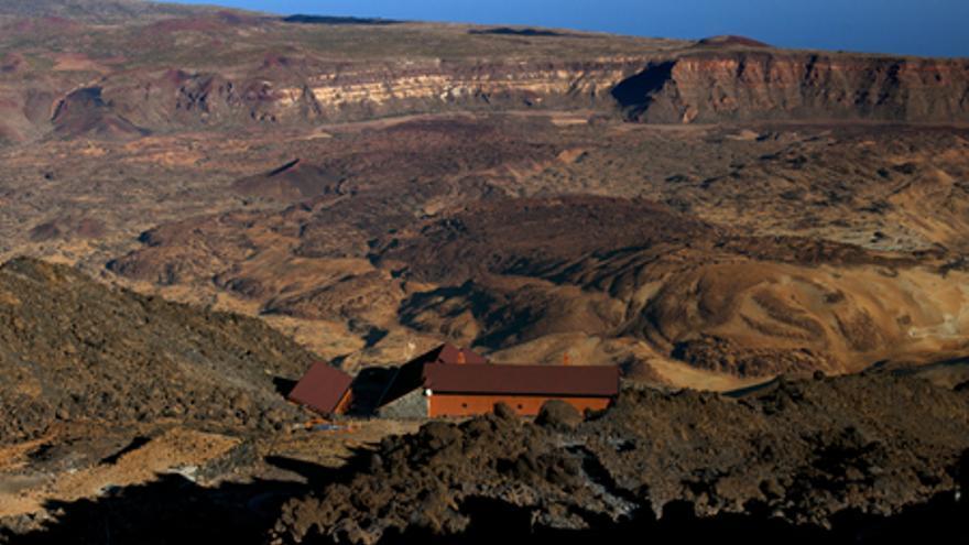 Refugio de Altavista en el Parque Nacional del Teide.