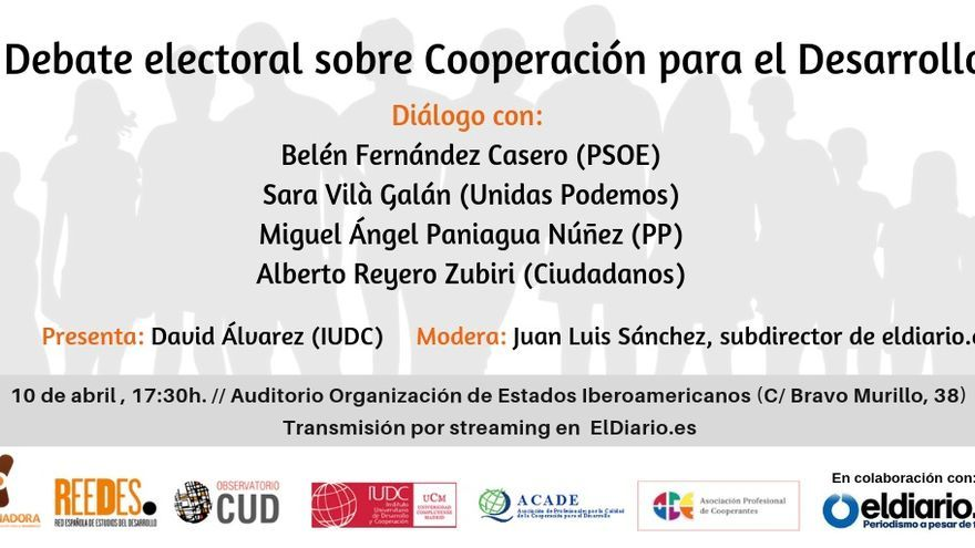 Debate electoral sobre cooperación.