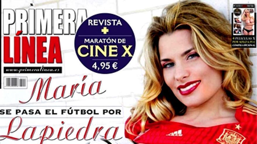María Lapiedra se desnuda para calentar a La Roja