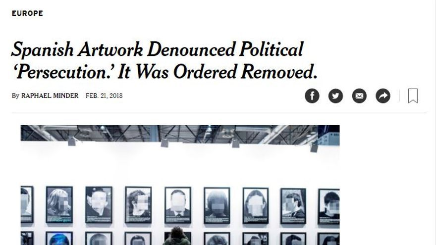 Captura del periódico New York Times