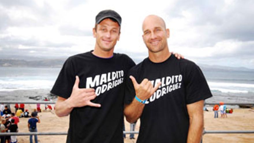 Ben Player y Mike Stewart, dos de los 11 campeones del mundo que competirán en El Confital.
