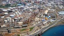 Vista aérea de la planta de Cepsa en Tenerife